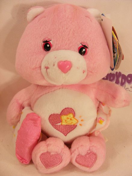 "BNWT COLL EDT 8"" BABY HUGS CAREBEAR CARE BEARS BEANIE"
